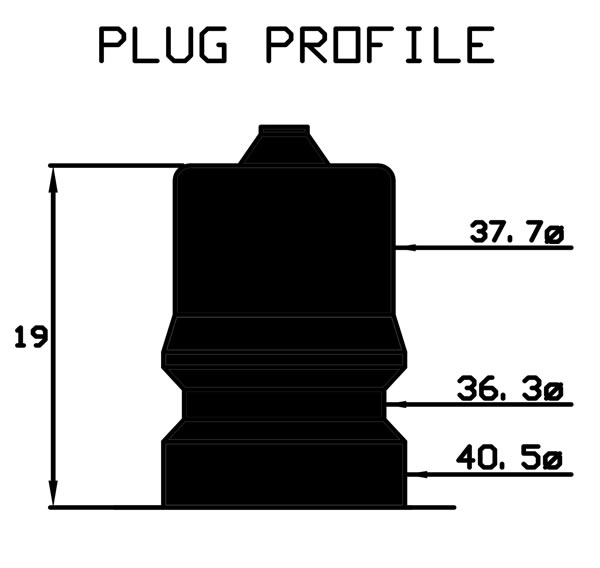 Coupling Plug Profile Diagram
