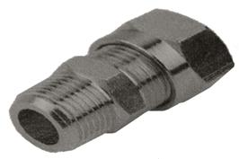 Metric Nickel Plated Compression - Male Stud BSPT