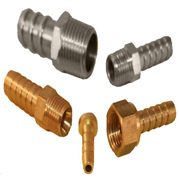 Kee Nickel Plated Brass Hosetails