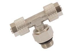 Swivel Male Stud Tee - Centre Leg BSPP