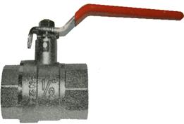 Ball Valve - Red Steel Long Handle - Female x Female BSPP